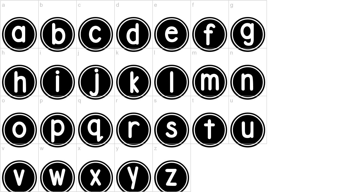 DJB Pokey Dots lowercase