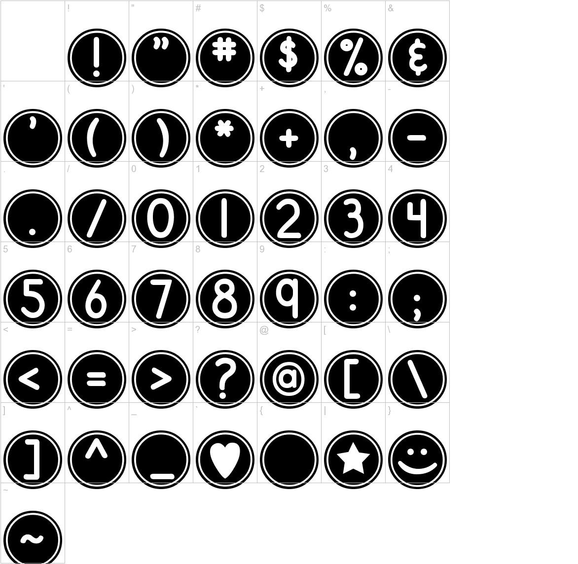 DJB Pokey Dots characters