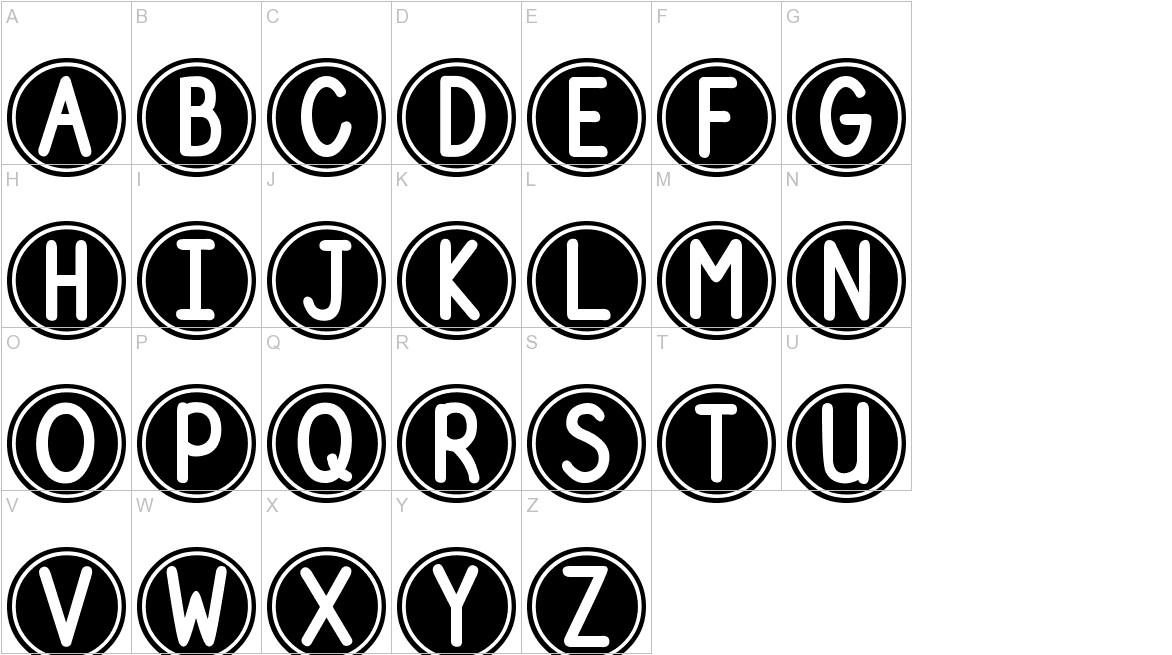 DJB Pokey Dots uppercase