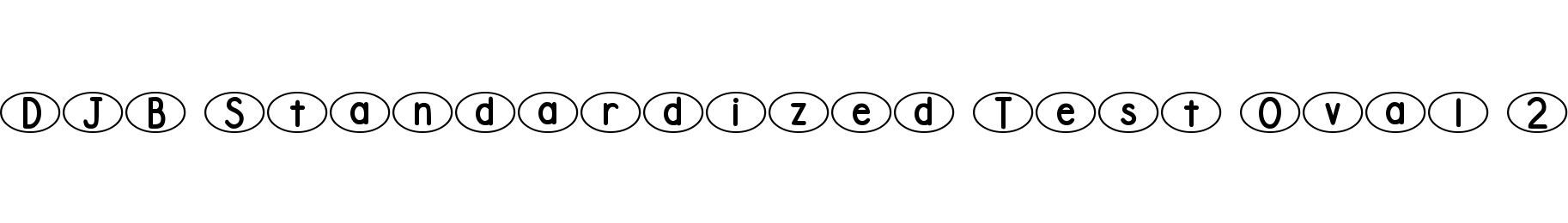 DJB Standardized Test Oval 2