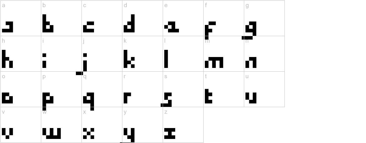DraconianPixelsMinimal lowercase