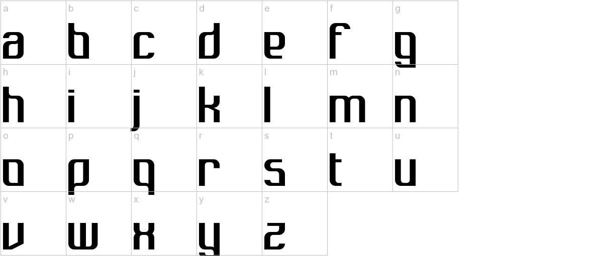 Dukungan lowercase