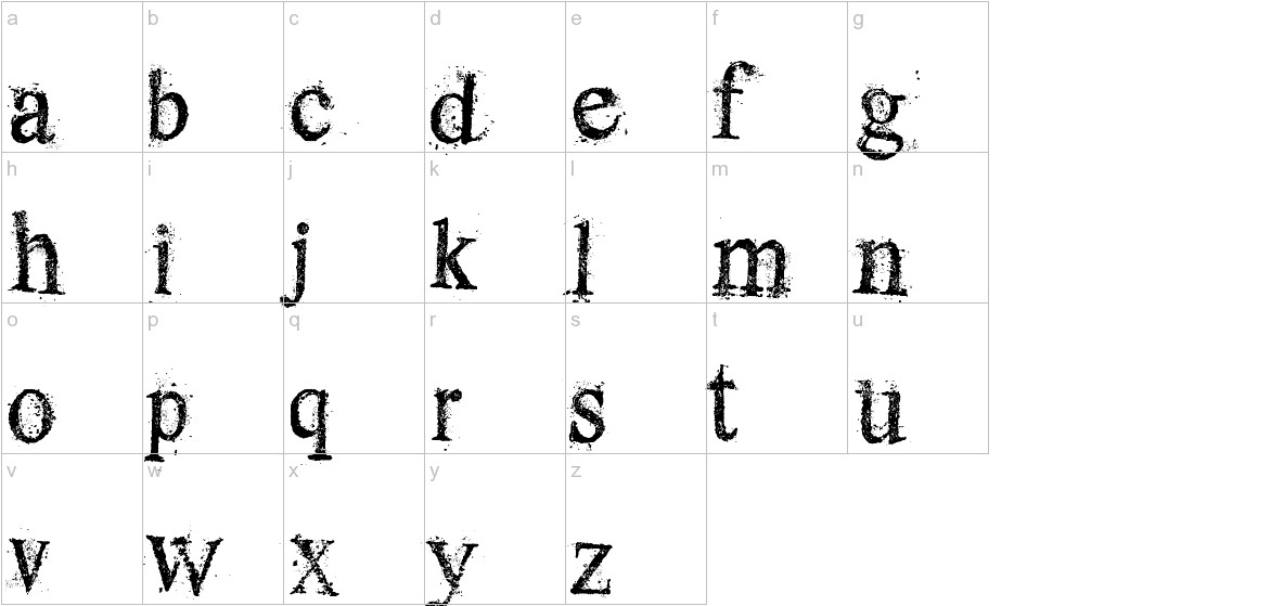 Dust Serif lowercase