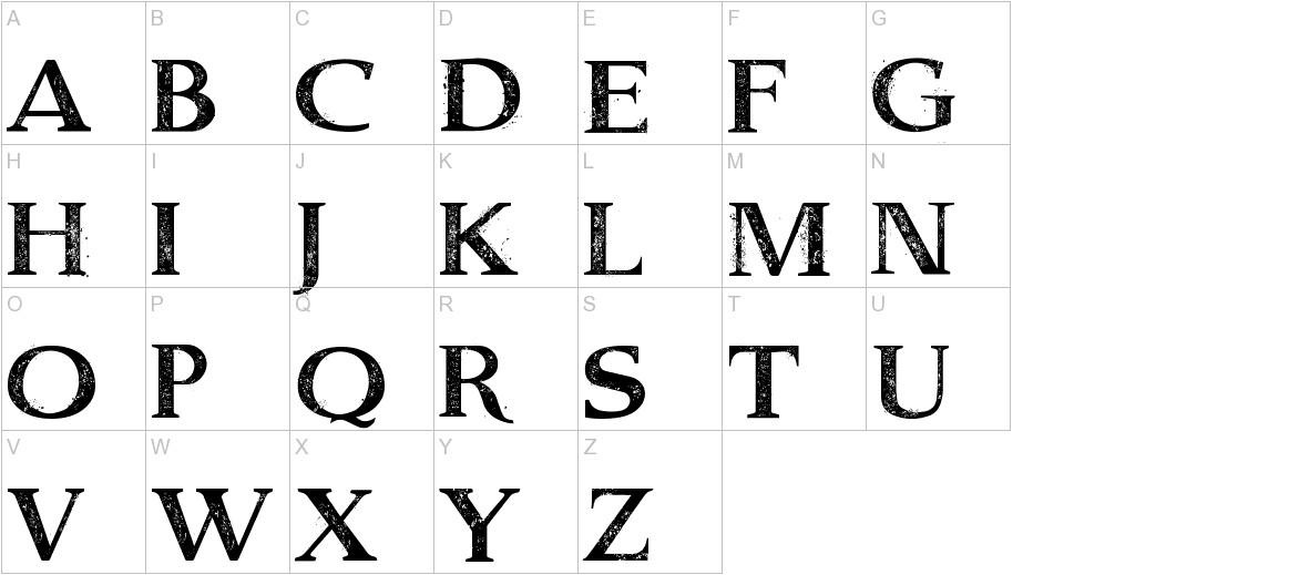 Dust Serif uppercase