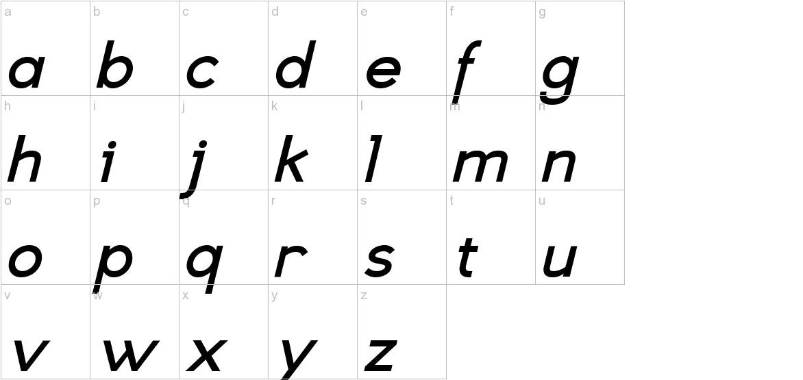 Eligible Sans Bold Italic lowercase