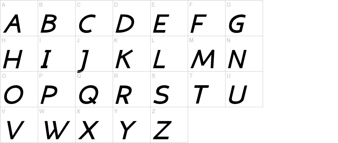 Eligible Sans Bold Italic uppercase