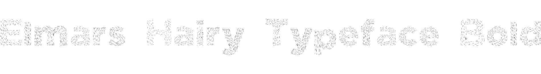 Elmars Hairy Typeface Bold