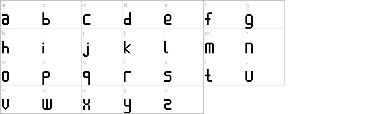 Enlatique lowercase