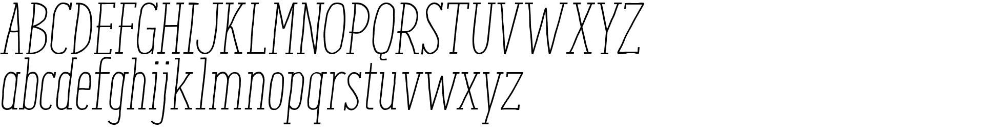 Enyo Slab Light Italic