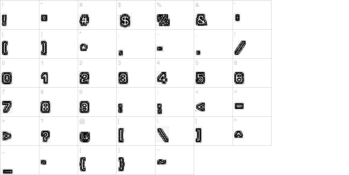 Brain-scan characters