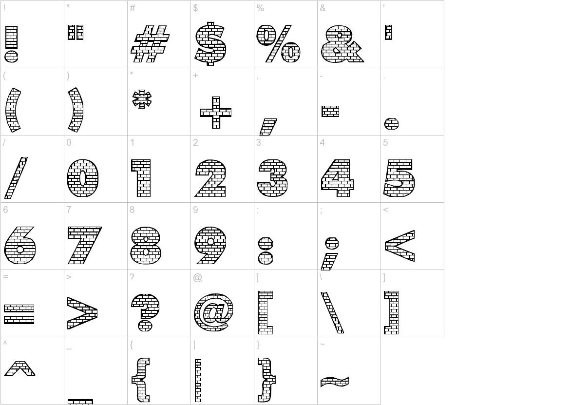 bricks characters