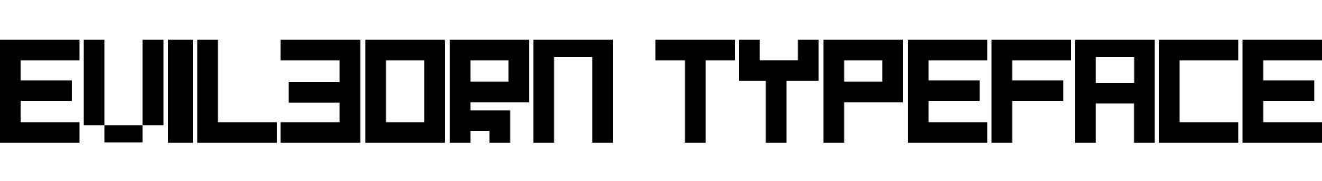 Evilborn Typeface