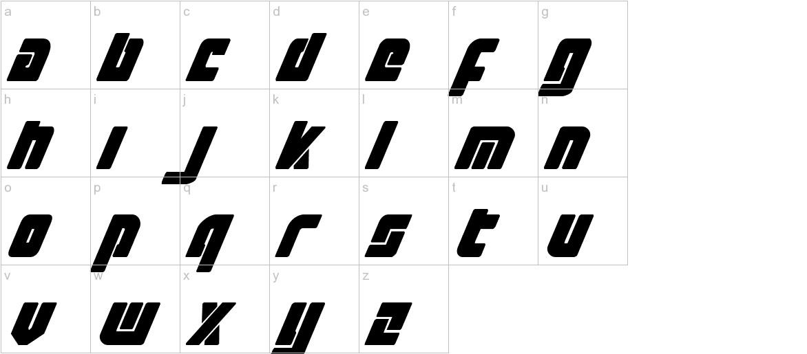 Exoplanet Italic lowercase