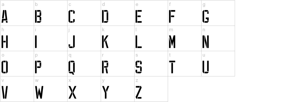 EXP FONT lowercase