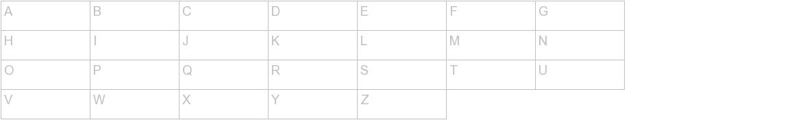 Faustina Font uppercase