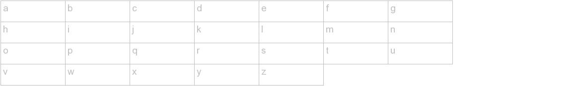 Faustina Font lowercase