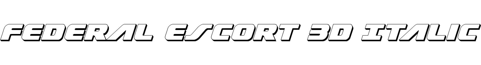 Federal Escort 3D Italic