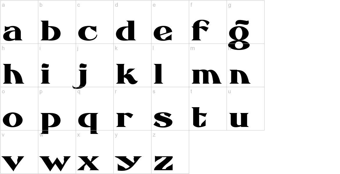 FHA Eccentric French Normal lowercase