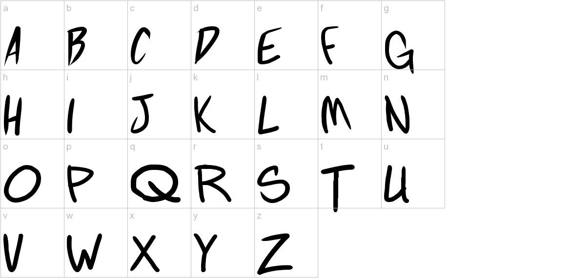 Fighting wordz lowercase