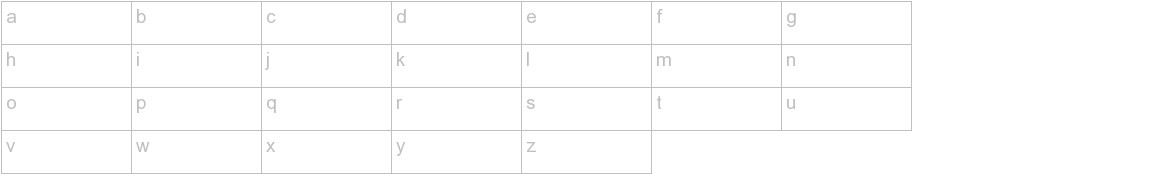 Flex Display Thin lowercase