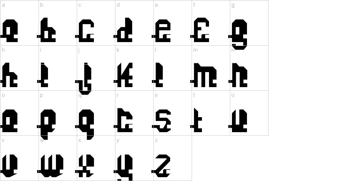 Fonuzzle Black lowercase