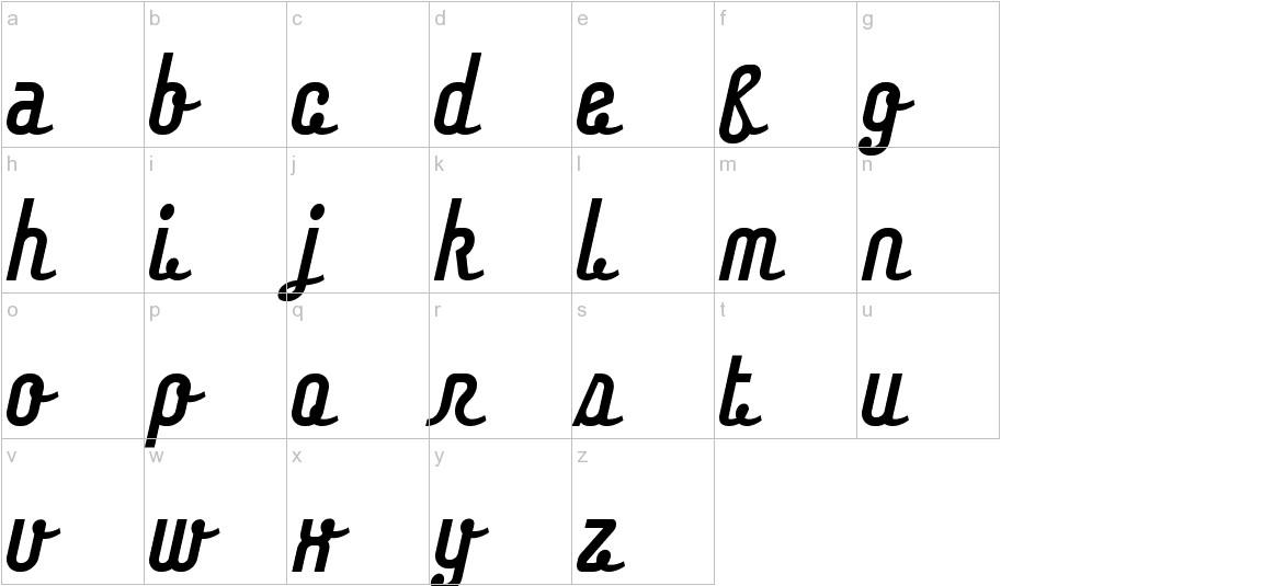 Chaingothic lowercase