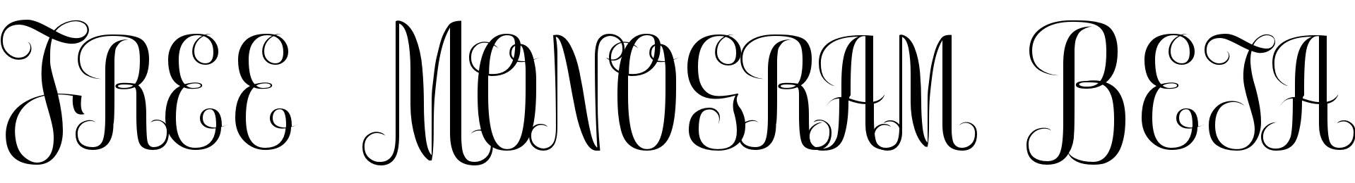 Free Monogram Beta