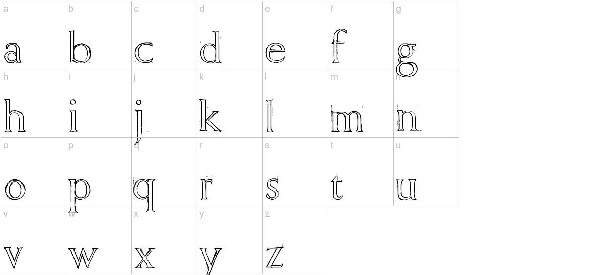 Freehand Roman lowercase