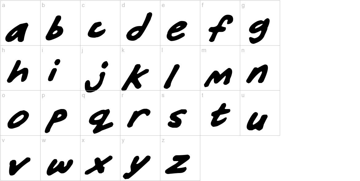 Friendly Felt Tips Italic lowercase