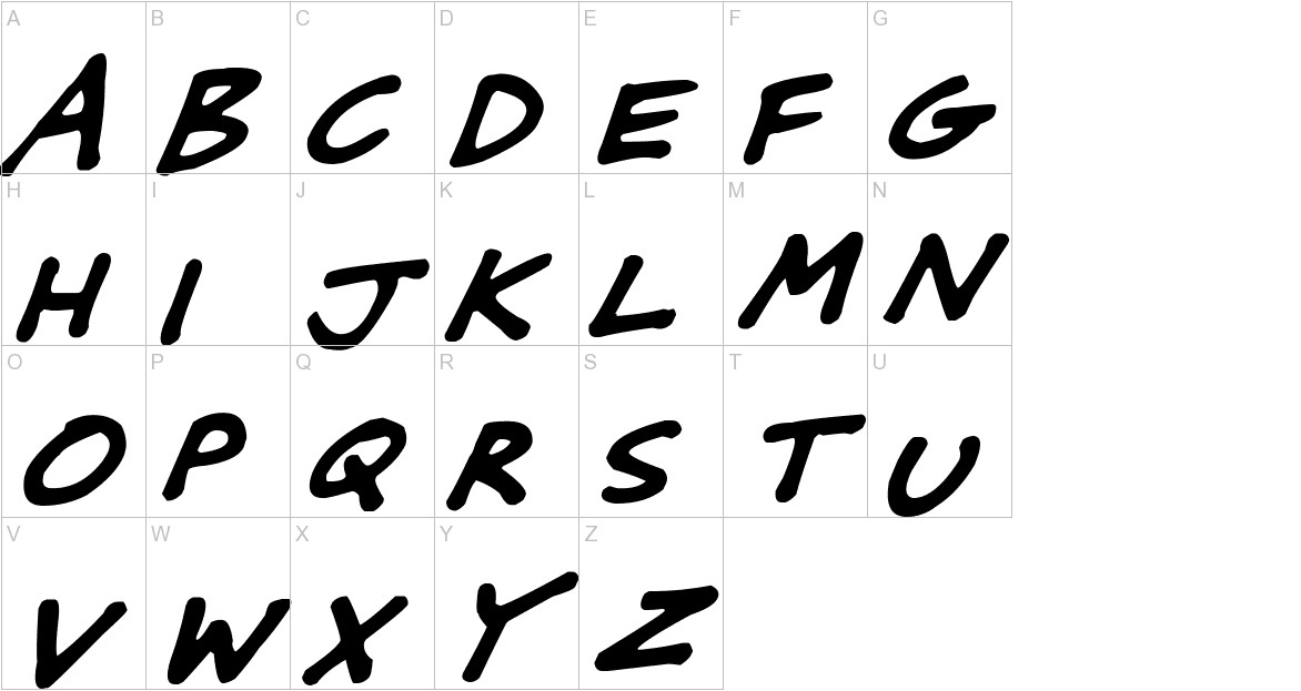 Friendly Felt Tips Italic uppercase