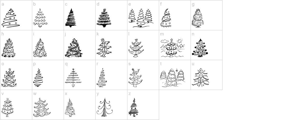 Fun Christmas Trees lowercase