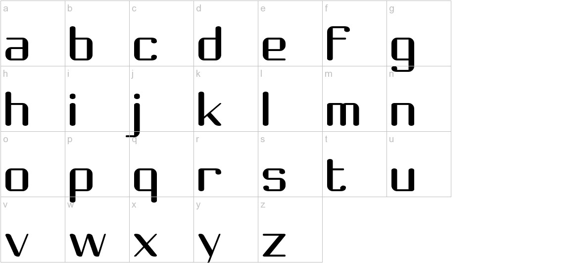 Choktoff lowercase