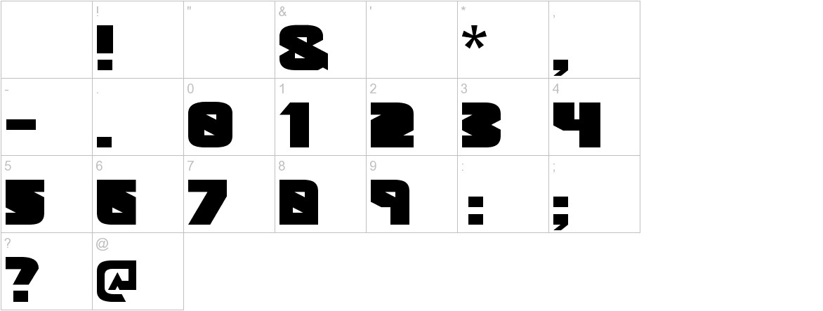 Geometric Black Black characters
