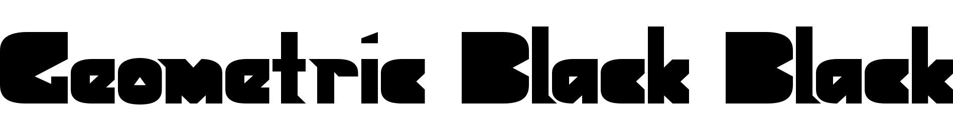 Geometric Black Black