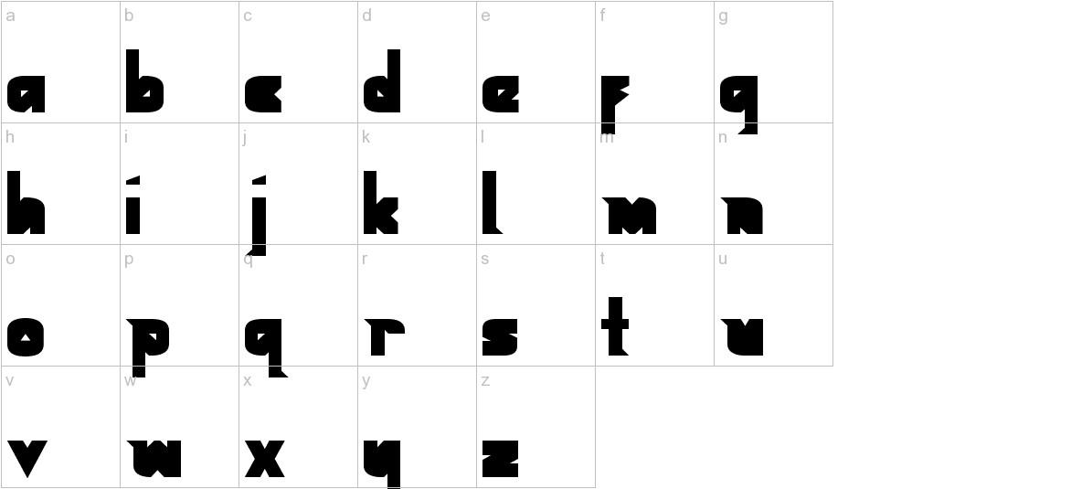 Geometric Black Black lowercase