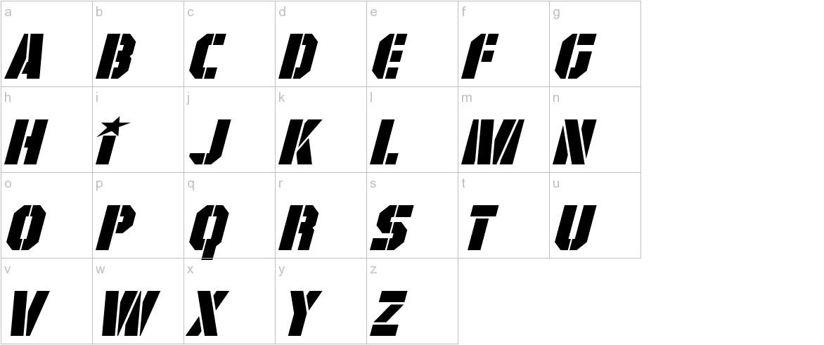 GI Colton Italic lowercase