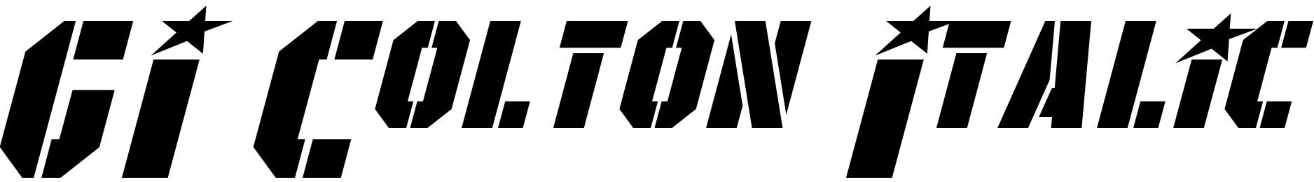 GI Colton Italic