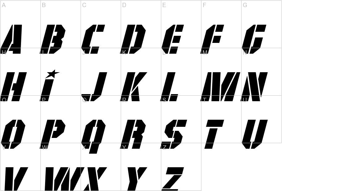 GI Colton Italic uppercase