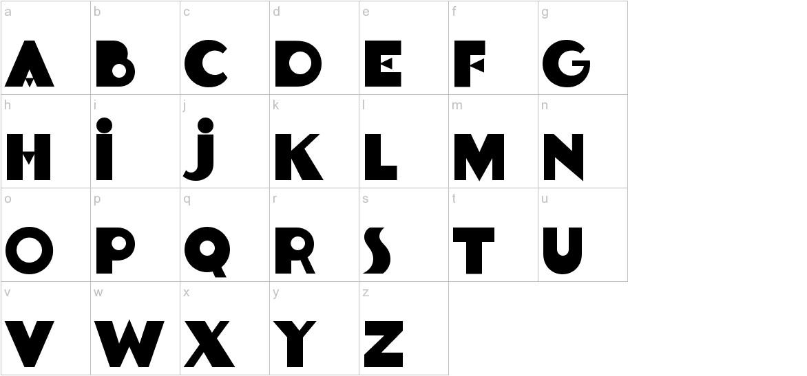 Goldsaber-Regular lowercase