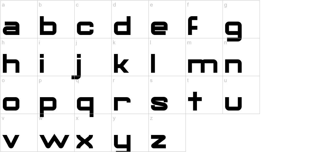 Gorila Bold lowercase