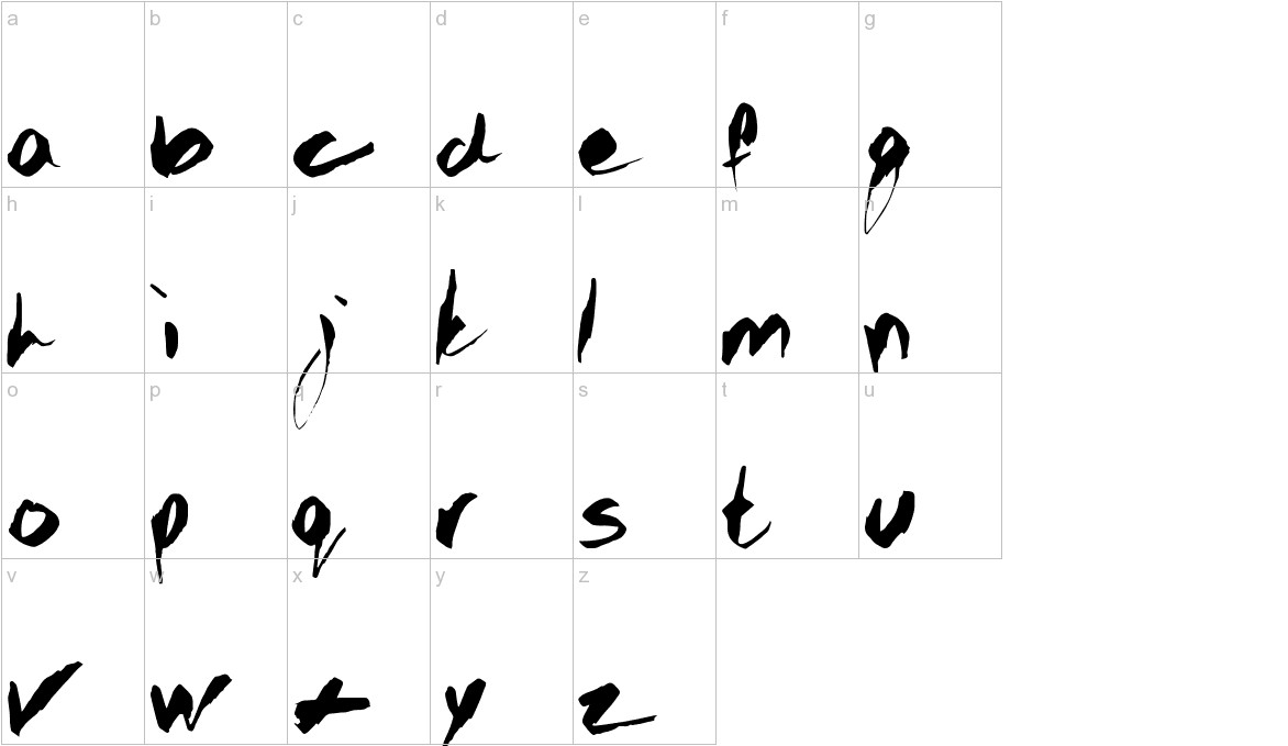 GOTHIC SCRIBBLE lowercase