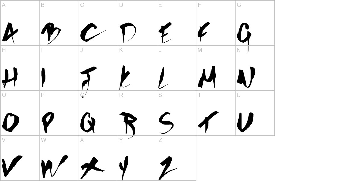 GOTHIC SCRIBBLE uppercase