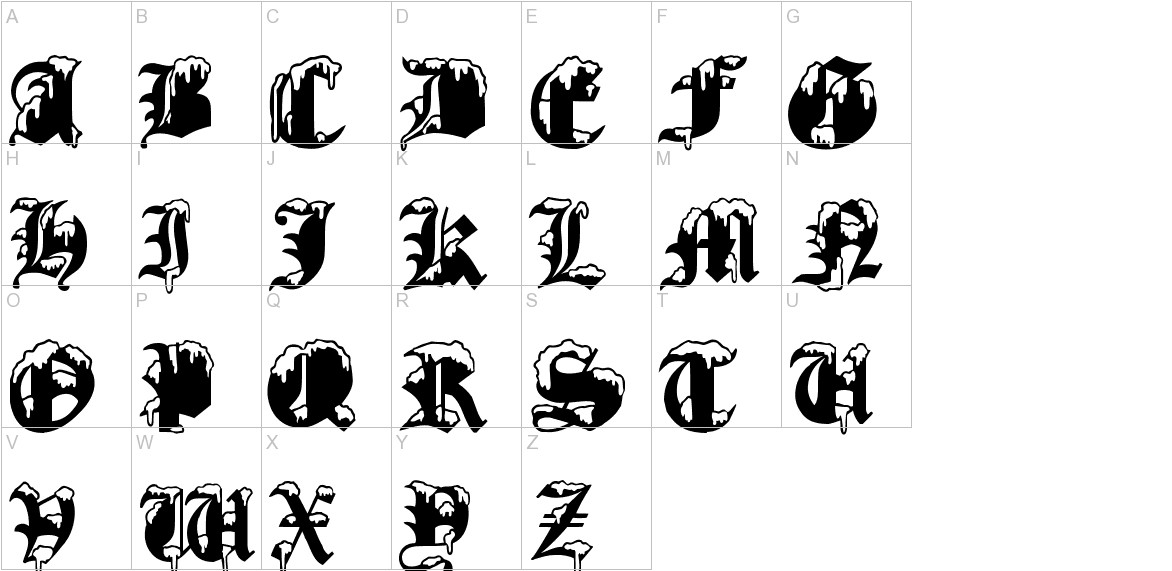 Gothic Winter uppercase