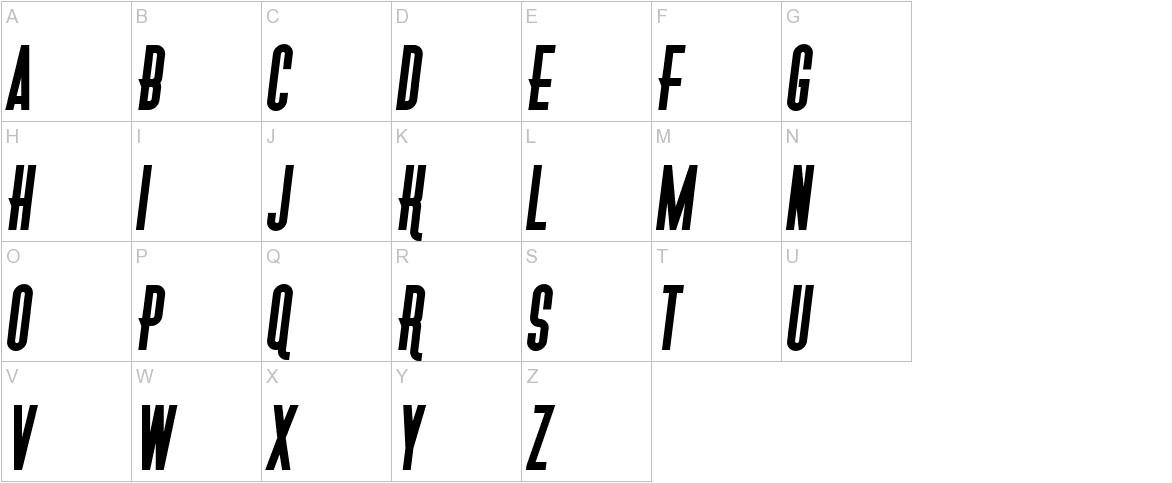 Gotica Moderna KK Italic uppercase
