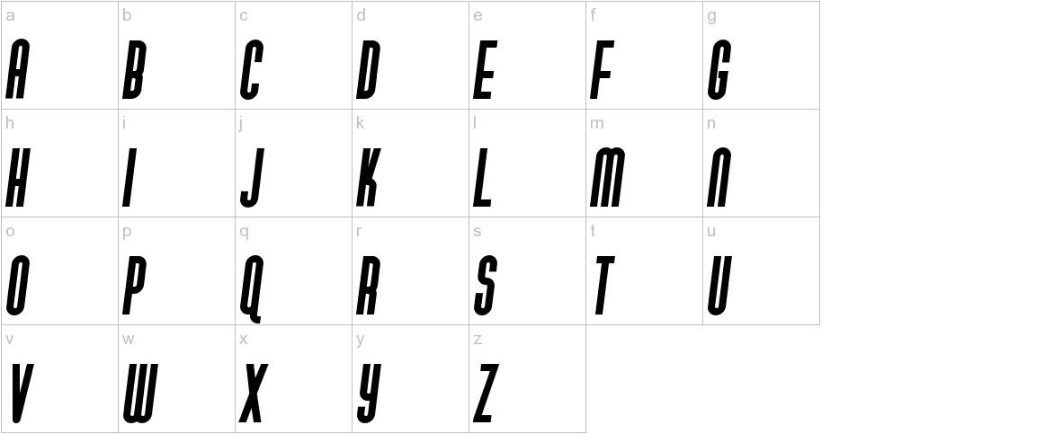 Gotica Moderna KK Italic lowercase