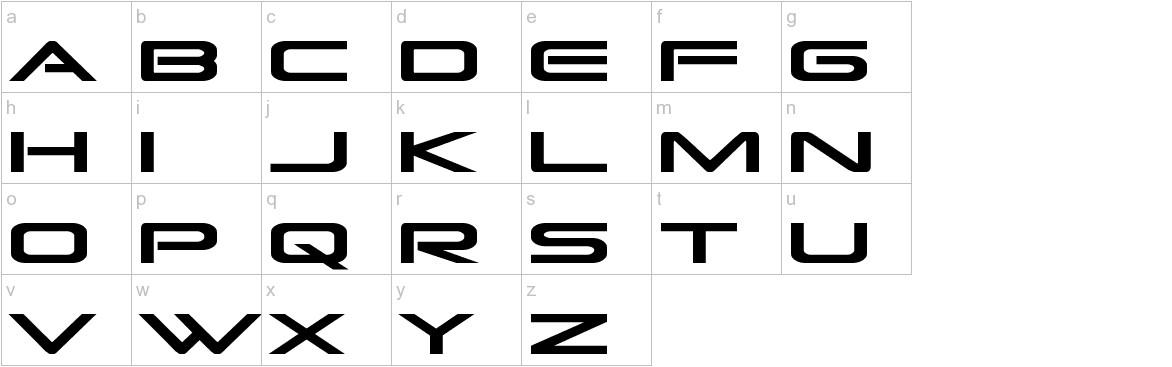 Grand Sport Condensed lowercase