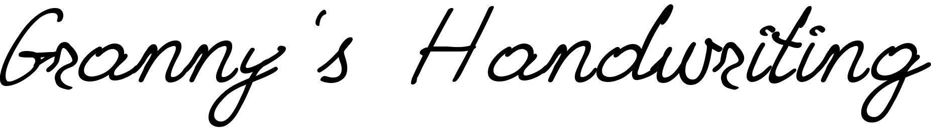 Granny's Handwriting