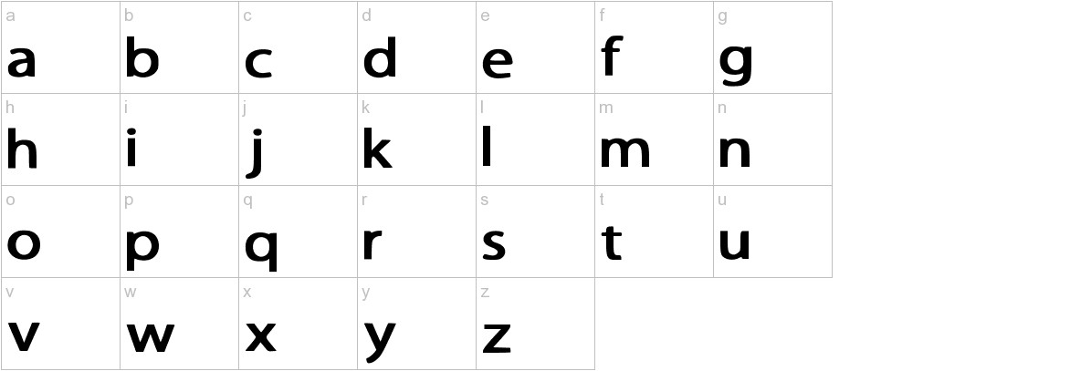 Greek Classics Medium lowercase