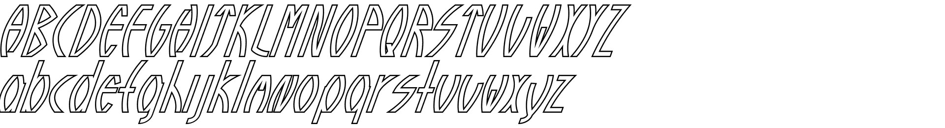 Guazhiru Italic Outlined