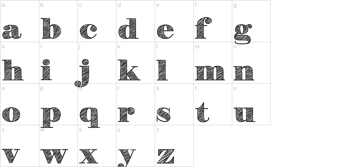 H&B Sketch lowercase